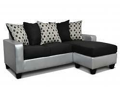2PCS  MODERN  SECTIONAL WITH PILLOW BACK $599