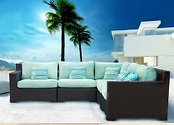 FREE Delivery in Montreal! Outdoor Patio Wicker Sunbrella Sectional Sofa by Cieux!  Brand New!