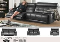 NEUF Sofa inclinable en cuir  bourgogne ou noir(IF-8005-06)