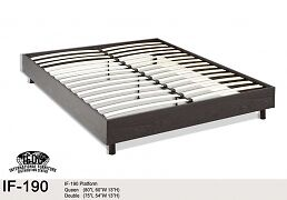 Double Platform Bed - New