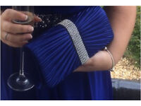 Beautiful blue clutch bag perfect for prom or a ball