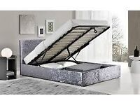 💎💎 New Charlie ottoman storage bed frame in grey