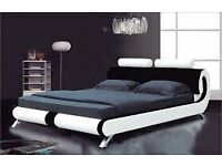 Faux Leather Italian Double bed