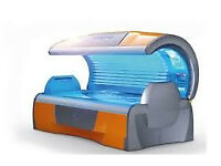 Two Hapro Luxura X7 sunbeds for sale.