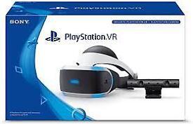 Playstation VR Headset + Camera, 3xGames and 1xPlaystation Move Controller