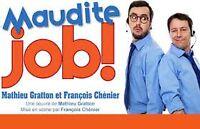 4 ou 2 billets pour Maudite Job Club Dix30 le 24 février
