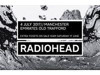3 x RADIOHEAD tickets, 04/07/17, Manchester