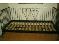 Ikea Black Metal Day Bed