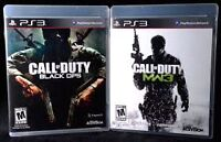 Black ops 1 and MW3 ps3