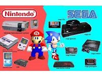 WANTED RETRO CONSOLES AND GAMES NINTENDO SEGA NES SNES N64 GAMEBOY GAMECUBE MEGADRIVE SATURN WII