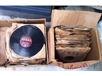 A very large collection of old 78 rpm records