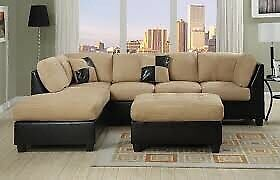 Beige sectional