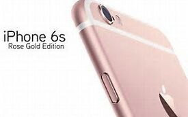 i phone 6s rose gold 64gb mint condition boxed and unlocked