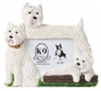Brand New! Sandicast West Highland White Terrier Picture Frame