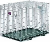Two Door Folding Dog Crate 36L x 24W x 27H
