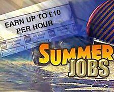 Ideal summer job for students or school leavers available now!