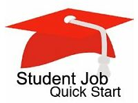 Ideal part time job for students or school leavers available now - no experience needed!