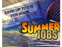 Ideal job summer for students or school leavers available now!