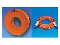Caravan 25m mtr Hook up Cable Lead & Extension Storage Wheel