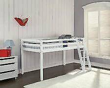 Children's cabin bed mid sleeper white