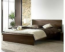 Bed from Hills in Spalding .low brown velour .Mattress