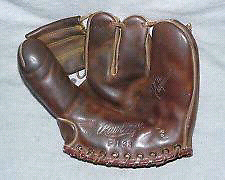 Vintage Antique Baseball Glove stubby extra thick padded fingers