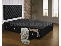 King size Divan bed with headboard