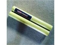 B&Q lime green patterned wallpaper x 2 rolls