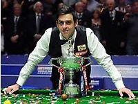 World SnookerChampionship Final **V.I.P** tickets **LAST SESSION**