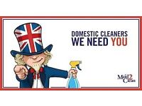 Recruiting Part-Time DOMESTIC CLEANERS in LOUGHTON