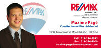Maxime Pagé, courtier immobilier résidentiel ReMax Alliance Inc