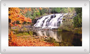 Moving Picture In Motion Mirror Framed Waterfall Picture