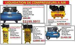 GRANDE VENTE DE COMPRESSEURS A AIR (VOIR PHOTO)