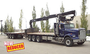 2006 Freightliner w/ 25' Trailer & HIAB Crane Combo- NOW REDUCED