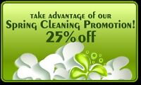 SPRING CLEANING PROMOTIONS!
