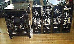 CHINESSE ANTIQUE CABINET/WALL ART + FREE