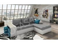 brand new corner sofa bed as in pic last one 80%off 2 free pouffes