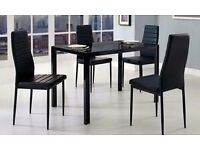 Brand New and Boxed, Black Glass Dining Table (chairs not included)