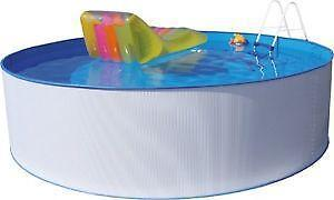 Pool komplettset ebay for Schwimmbecken mit stahlwand