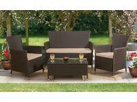 Black rattan outdoor furniture
