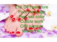 £10 OPI manicure worth £35 & £10 pedicure rrp £40 stockport