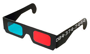 3D Red Cyan Glasses - Black Cardboard (10 Packs) R250 - 0843747444