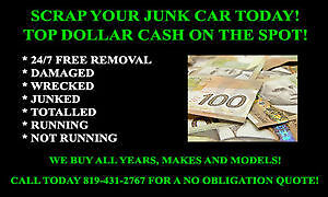 FREE SCRAP/JUNK CARS REMOVAL + TOP CASH $$$$