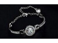 Brand new Swarovski elements white gold plated bracelet