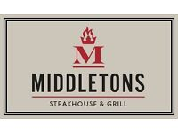 Chef's wanted Peterborough Middletons Steak house and grill