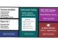 Mot testers course Mot managers level 3 hybrid Bradford and Huddersfield