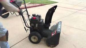 "Trade 24"" Sears snowblower for lawn tractor attachments."