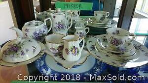 """Hammersley """"Victorian Violets From Englands Countryside"""" China Set with Salisbury Creamer Set"""