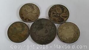 Old Canadian Silver Coin Lot