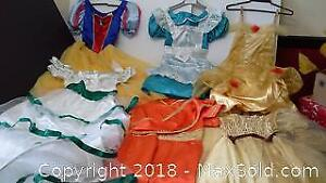 6 girls' 8-10 & 12-14X princess / fairy dresses